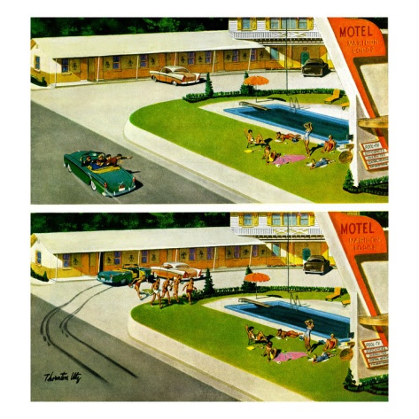 """""""Where the Girls Are"""", August 17, 1957 Giclee Print by Thornton Utz at Art.com"""