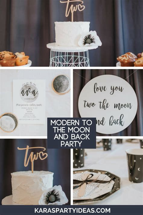 Kara's Party Ideas Modern Moon & Back Birthday Party
