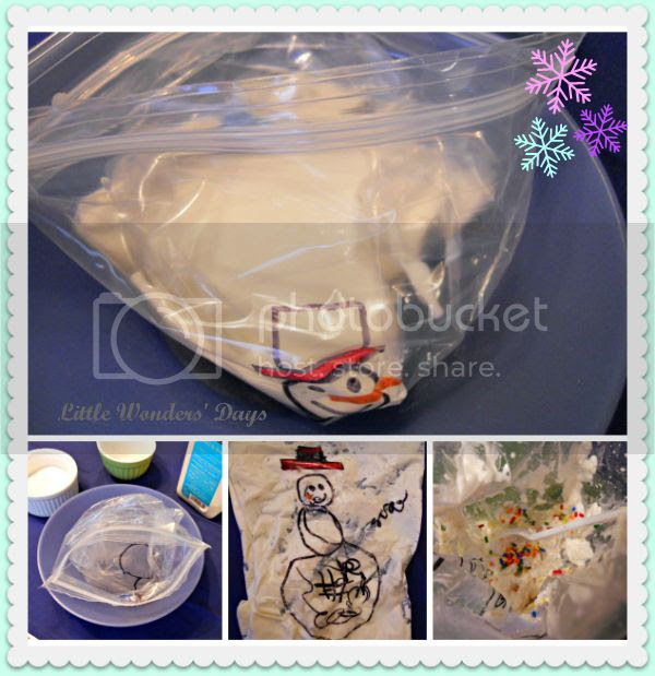 Roll a snowman game to make ice cream in a bag