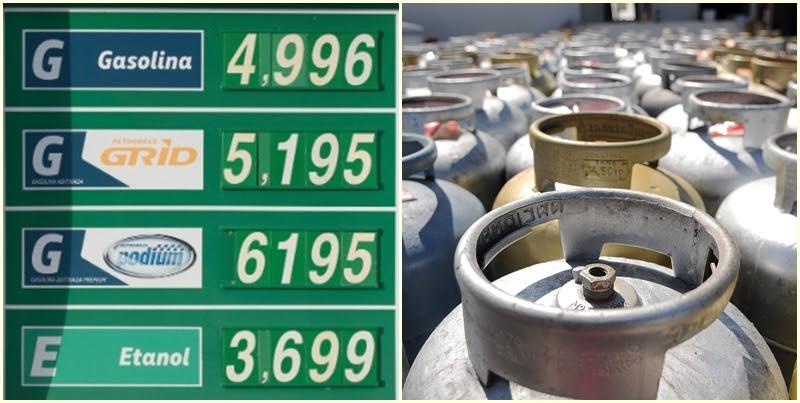 Resultado de imagem para gás de cozinha, gasolina e diesel tem aumento