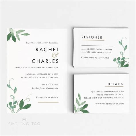 Invitations: Endearing Rsvp Wedding Cards Inspirations