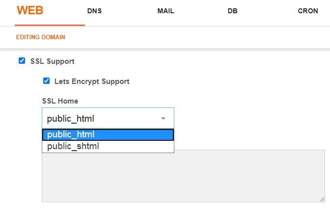 Soporte SSL y permite cifrar soporte