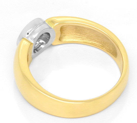 Originalfoto BRILLANT-DIAMANT-RING GELBGOLD WEISSGOLD