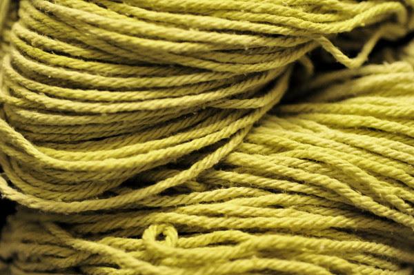 beard lichen yarn after drying