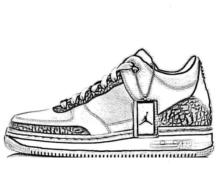 Nike Sneaker Coloring Pages Super Kins Author