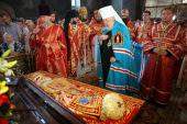 В день обретения мощей священномученика Владимира (Богоявленского) Блаженнейший митрополит Владимир совершил Литургию в Киево-Печерской лавре