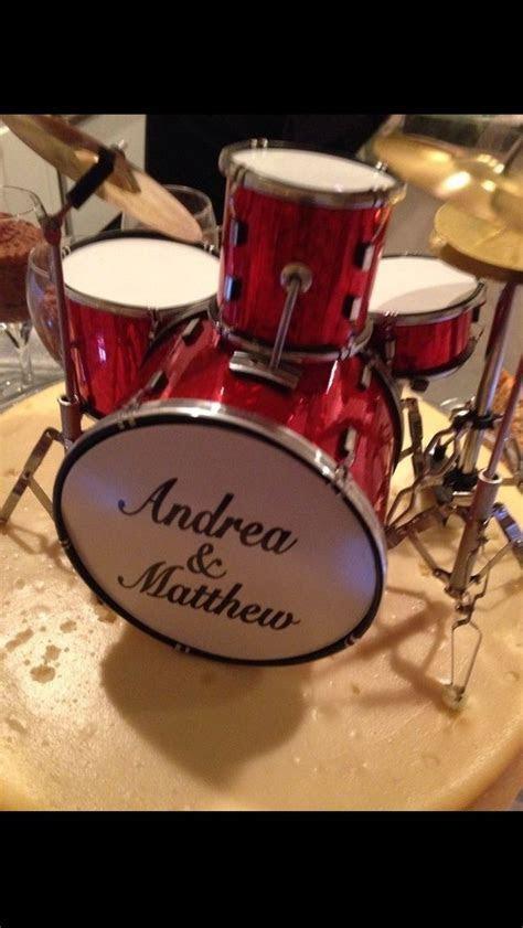 Custom drum kit cake topper..   My wedding ideas   Wedding