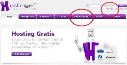 cara membuat website idhostinger-order