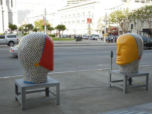 Sculpture by Jun Kaneko, Designer for San Francisco Opera's Die Zauberflöte - June 2012 _ 7942