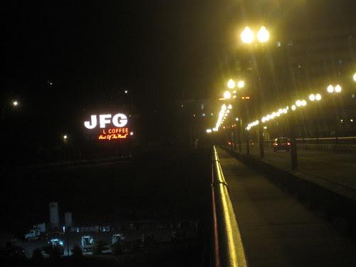Gay St Bridge at night