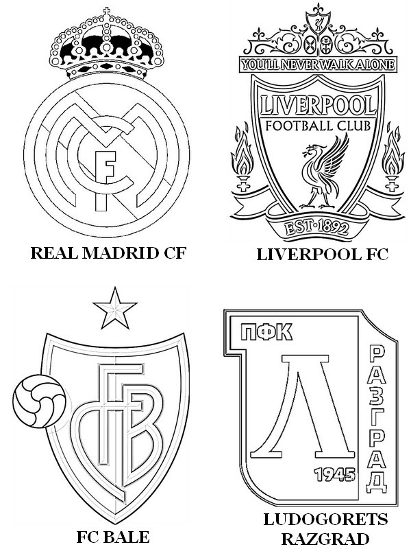 Coloring Page Uefa Champions League 2015 Group B Real Madrid Cf
