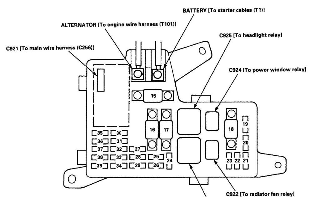 96 Accord Lx Fuse Box - Wiring Diagram Networks