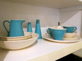 grandma's turquoise dishes