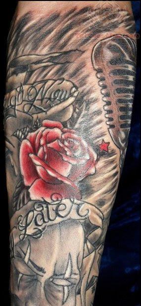 Rose Flowers Half Sleeve Tattoo For Men
