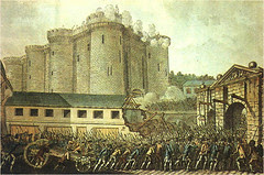 French Revolution kat Bastille, Paris, France