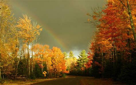 hd autumn rainbow wallpaper