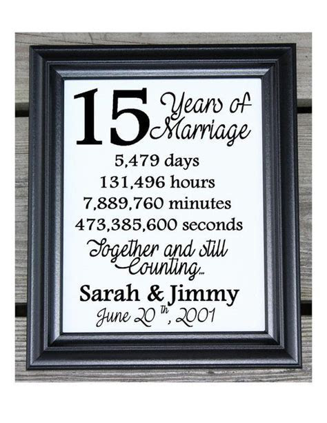 15th Wedding Anniversary Cotton Print   15th Wedding Gift