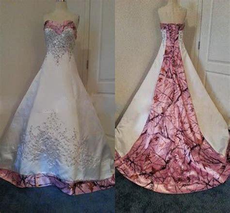 Designer Pink Camo Wedding Dresses 2016 Real Images Custom