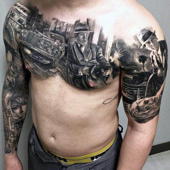 Bonnie And Clyde Gun Tattoos Wwwimagenesmicom