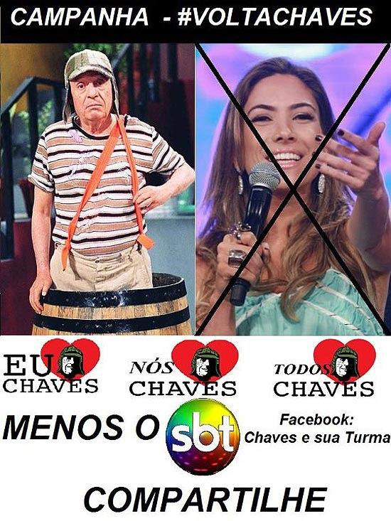 Campanha #VOLTACHAVES já está no Facebook e Twitter