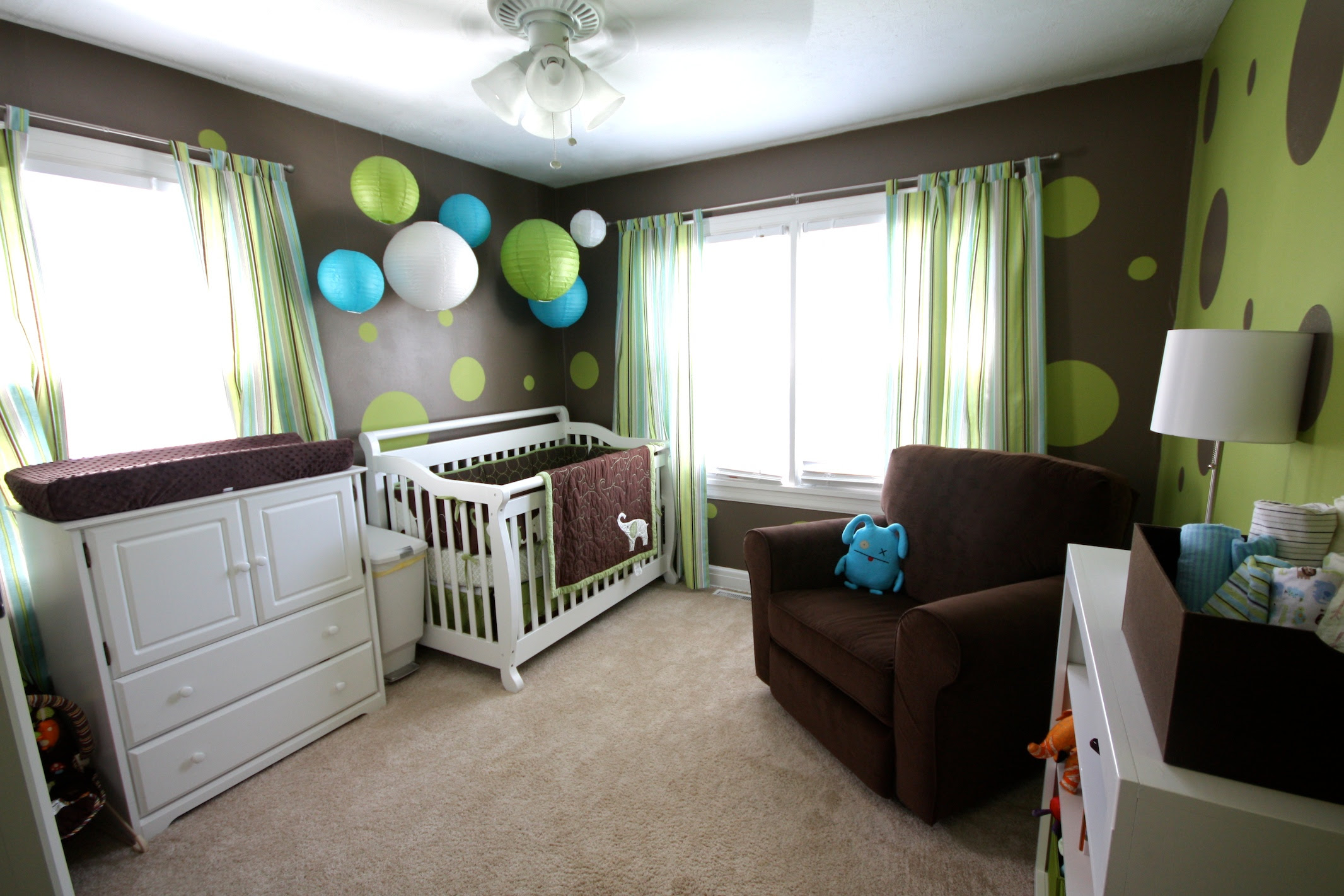 lime green and chocolate baby boys nursery | Interior ...