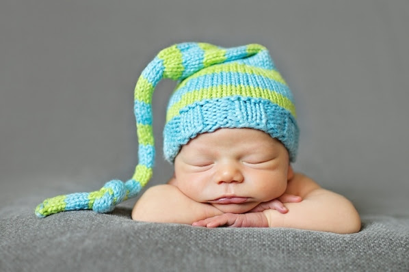 Uyuyan Sevimli Bebek Fotoğrafları Genç Grafiker