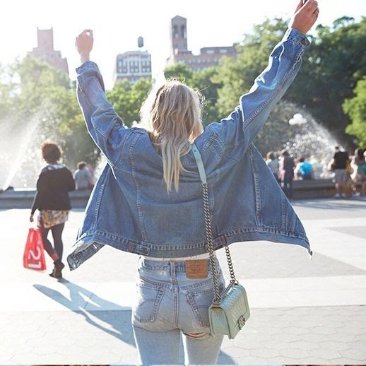 32 Le Fashion Blog Shots That Prove Levis Make Your Butt Look Amazing Good Jean Jacket Vintage Denim Via Instagram