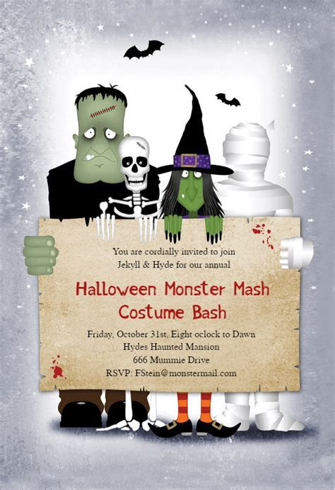 Monster Masquerade   Halloween Party Invitation Template