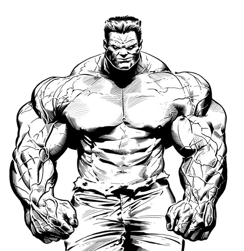Coloriages à Imprimer Hulk Numéro 544509