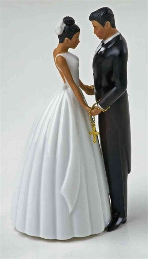 Ty Wilson Hispanic Bride and Groom Wedding Cake Topper