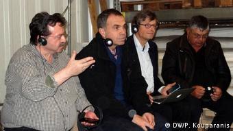 Χρήστος Γιαννακάκης (αριστερά) και Παναγιώτης Σταθακόπουλος (δεύτερος από αριστερά)