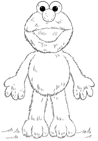 elmo coloring page  free printable coloring pages