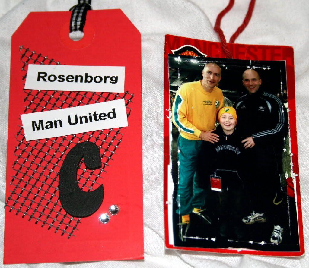Tags med bilder... til og med en original tag fra Man United klesplagg fra samboer'n min!!!