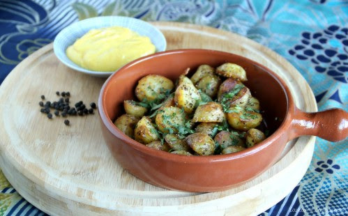 Black Pepper Potatoes with Lemon Turmeric Aioli 2