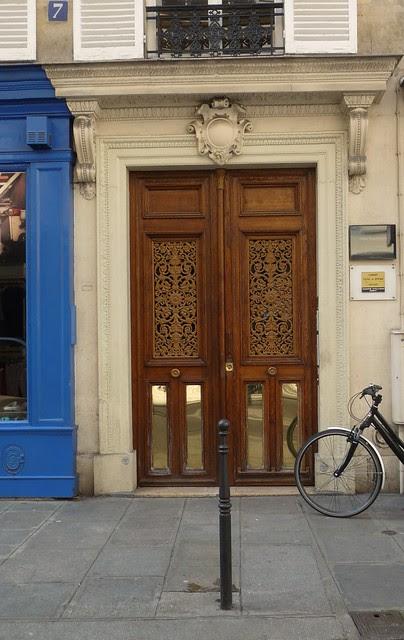 Blue, Bike, Door