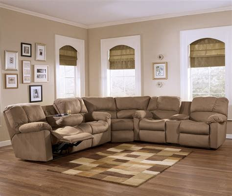 eli cocoa reclining sectional sofa group  pillow