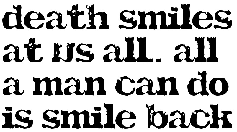 Death Smiles At Us All All A Man Can Do Is Smile Back Tattoo