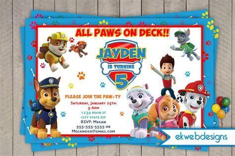 Paw Patrol Birthday Invitations  Nick Jr.   Custom Invites
