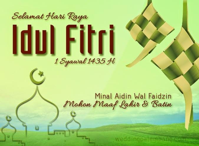 Contoh Gambar Ucapan Selamat Idul Fitri Simple - Desain ...