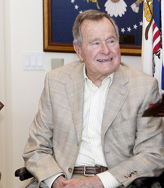 O ex-presidente americano George H. W. Bush, em Houston