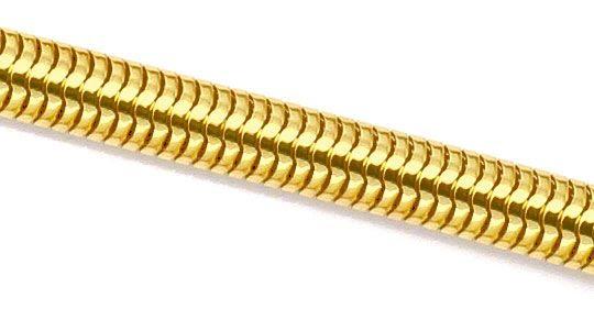Original-Foto 2, MASSIVE OVALE SCHLANGEN-GOLDKETTE KOLLIER GELB-GOLD 18K, K2303