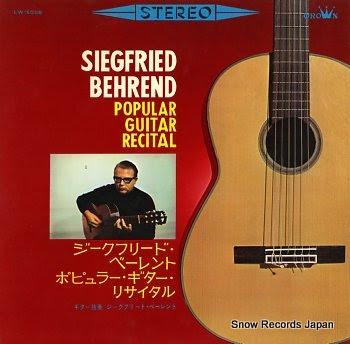 BEHREND, SIEGFRIED popular guitar recital
