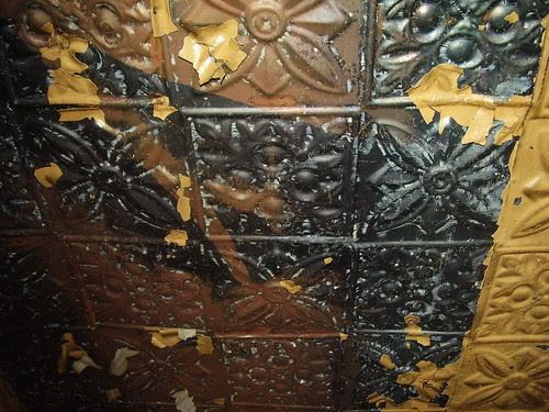 Krasner, Pressed Metal Ceiling, between 3rd & 4th floors