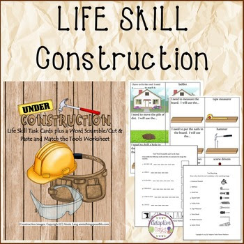Construction Task and Worksheets/Life Skill