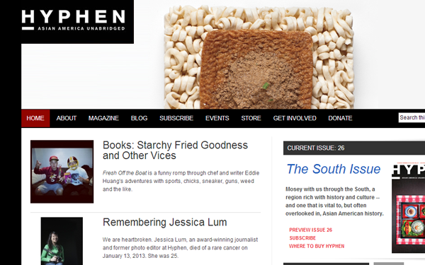 hyphen american magazine website blog layout