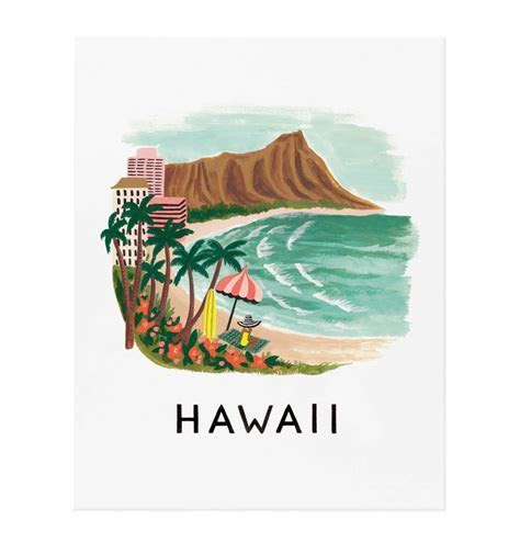 Hawaii Art Print by RIFLE PAPER Co.   Made in USA