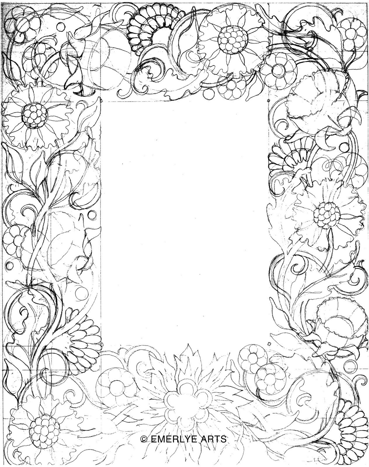 Free Simple Flower Border Designs To Draw Download Free Clip Art Free Clip Art On Clipart Library