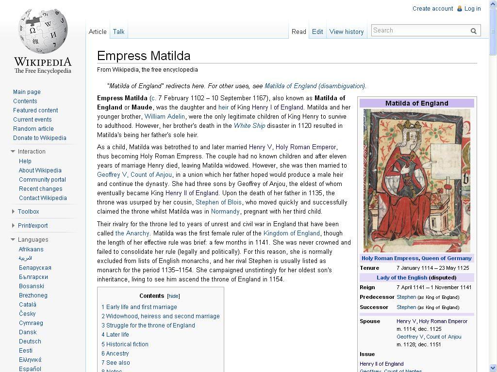 matilda wiki