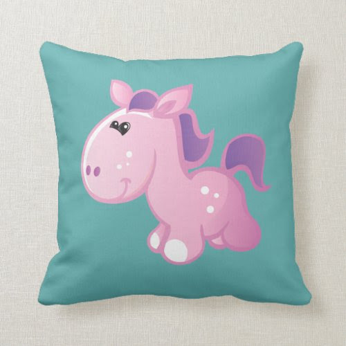 Cute Pony Throw Pillows