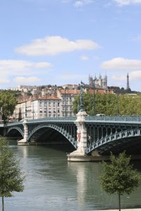 Rhone. Bridge. Lyon. France